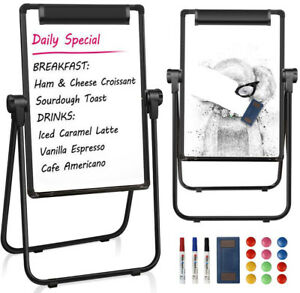 24 X 36 U stand Portable Magnetic Easel Dry Erase Board 360 Rotating Easel