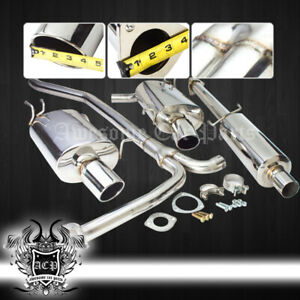 For 09 14 Tsx Euro R K24 Racing Dual Stainless Exhaust Muffler System Catback
