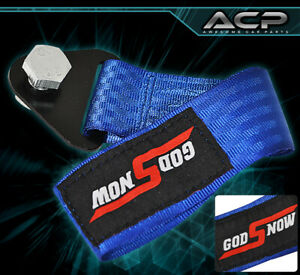 God Snow Auto Car Truck Suv Safety Hauling Tow Rope Front Rear Blue For Dodge