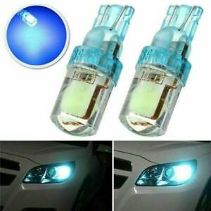 2pcs Ice Blue T10 6smd Car Led Wedge Light Plate License 194 5w5 Cob Bulb
