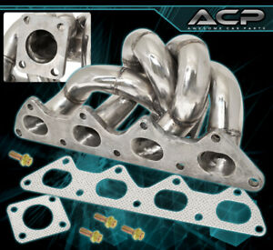 For 90 99 Mitsubishi Eclipse 2 0liter 4g63 Td05 Steel Race Turbo Manifold Header