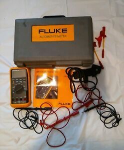 Fluke 88v Automotive Multimeter With Accessories Owner Manual Case