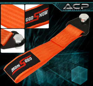 God Snow Auto Car Truck Suv Safety Hauling Tow Rope Front Rear Orange Mustang
