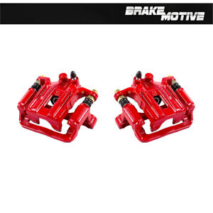 Rear Red Powder Coated Brake Calipers For 2005 2012 Nissan Frontier Xterra