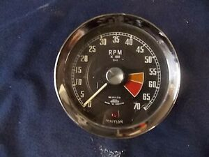 Cool Vintage Tachometer With Shift Light 4 Inches