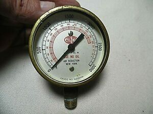 Vintage Air Co Air Reduction Brass Gauge No 8410009 0 3000 Lbs Per Sq Inch