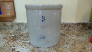 Rare Vintage Redwing 3 Gal Crock Clean No Cracks