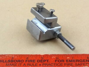 Very Nice Steel Adjustable South Bend 9 10k Lathe Apron Carriage Stop