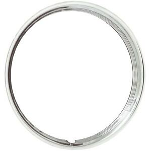 2 Wheel Vintiques Trim Ring Hot Rod Style Ribbed 14 Diameter Stainless