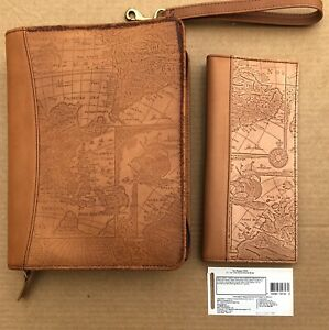 Franklin Covey 7 Ring Binder Planner Leather Old World With Matching Wallet