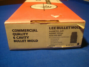 LEE COMMERCIAL 6 CAVITY BULLET MOLD 429-255-SWC NEW