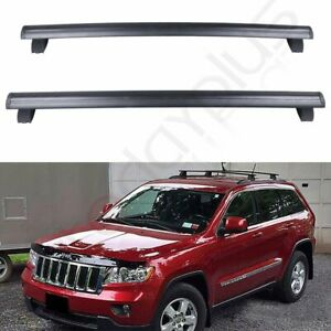 Crossbar For 2017 2019 Jeep Grand Cherokee Black Front Rear Roof Carrier Rack