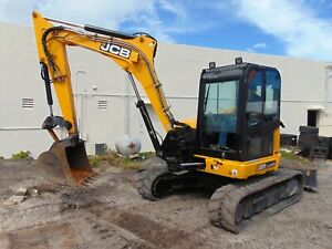 2016 Jcb 85z 1 Mid Sized 18k Pound Mini Midi Excavator A c Cab High Flow