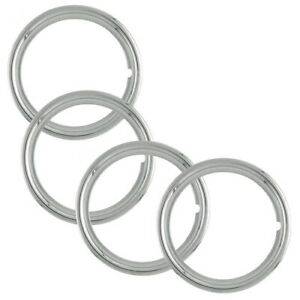 Set Of 4 Gm Chevy 15 Stainless Steel Wheel Trim Rings 1 1 2 Deep Beauty Bands