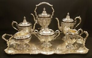 Fabulous Gorham Sterling Silver Tea Coffee Service Hand Chased