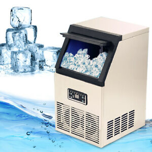 Commercial Undercounter Ice Maker Machine Stainless Steel Air Cooled Cube 50kg