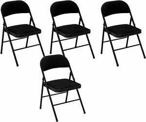 Metal Folding Chair Pack Of 4 Party Wedding Restaurant Chairs Office Valentine