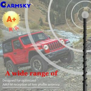 9 Radio Am Fm Automatic Antenna Spiral Mast For 2007 2019 Jeep Wrangler Jk Jl