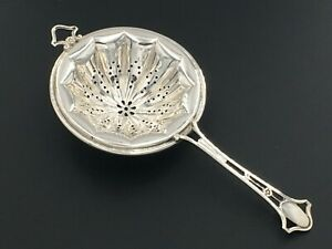 Frank M Whiting Sterling Silver 925 Pierced Handle Floral 5005 Tea Strainer