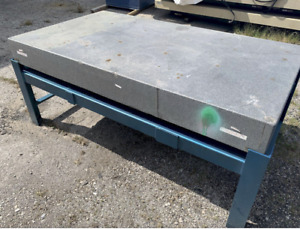 44 X 80 X 8 Granite Layout Surface Plate With Stand Ybm 11174