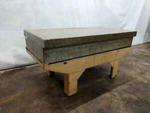 36 X 72 X 12 Herman 2 ledge Granite Surface Plate With Steel Stand ybm 11909