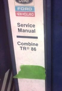 Genuine Ford New Holland Tr86 Combine Complete Dealer Service Manual