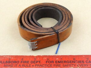 Very Nice South Bend Heavy 10 Lathe Leather Drive Belt 59 3 4 X 1 1 8 X 3 16