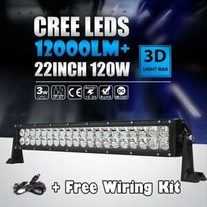 24inch 22 280w Cree Led Work Light Bar Flood Spot Fit For Jeep Suv Atv Driving