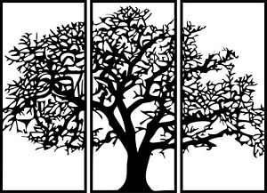 Tree Wall Panel Dxf Of Plasma Laser Cut Cnc Vector Dxf cdr Ai Art File