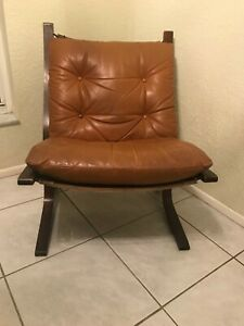 Westnofa Ingmar Relling Beech Bentwood With Cognac Leather Siesta Chair