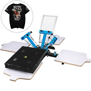 3 Color Screen Printing Equipment Press Kit Machine 4 Station Silk Screening Diy