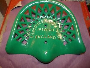 Ransomes Sims Vintage Farm Implement Seat Rare Cast Iron Tractor Antique
