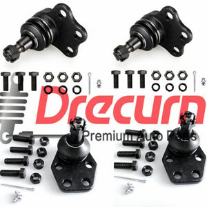 4pc Front Upper Lower Ball Joints Set 2000 2001 Dodge Ram 1500 Truck 2wd
