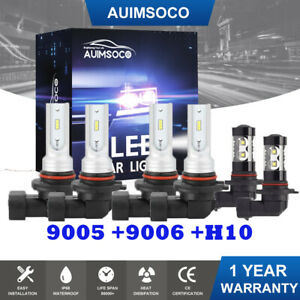 9005 9006 Led Headlight Bulbs For 2003 2006 Chevy Silverado 1500 Hi Lo Beam Fog