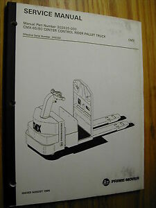Bt Prime Mover Cmx 65 80 Service Repair Manual Electric Rider Fork Pallet Truck