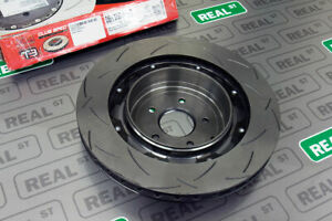 Dba 5000 Series Slotted 2 Piece Rear Brake Rotor Black Hat For 09 11 Gtr R35