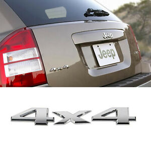 3d Metal 4x4 Emblem Badge Car Sticker Logo Decal For Jeep Grand Cherokee