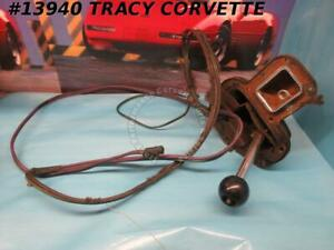 1965 1967 Corvette Shifter Assembly Automatic W Pwr Cable Shifter Survivor 1966