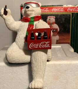 Coca-Cola Brand Polar Bear Stocking Holder Vintage 1998