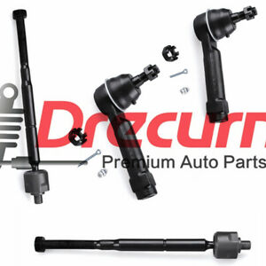 4pc Inner Outer Tie Rod End For Dodge Caliber Jeep Compass Patriot