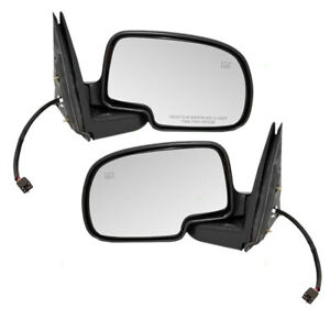New Pair Set Power Side View Mirror Heated Cadillac Chevy Gmc Suv Pickup Truck
