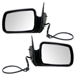 New Pair Set Power Side View Mirrors Heated For 1996 1998 Jeep Grand Cherokee
