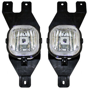 Pair Set Fog Lights Lamps For 2001 2004 Ford Excursion Super Duty Pickup Truck