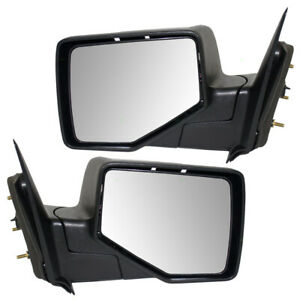 Pair Set Manual Side Mirrors Textured W cover For 06 11 Ford Ranger Pickup Truck