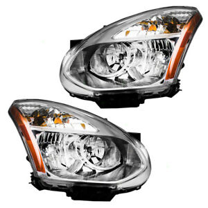 New Pair Set Hid Headlight Assembly For 08 13 Nissan Rogue 14 15 Rogue Select