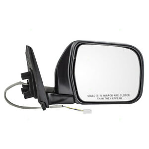 New Passengers Power Side View Mirror Glass Housing Chrome For 93 98 Toyota T100