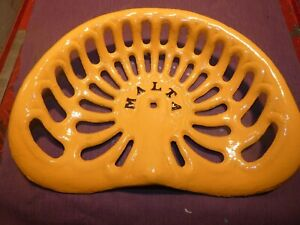 Malta Vintage Cast Iron Tractor Farm Implement Seat Antique Collectibles