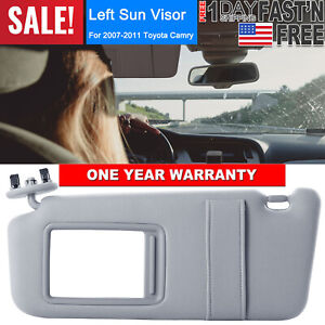 Sun Visor Left Driver Side Gray For 2007 2011 Toyota Camry Without Sunroof Us