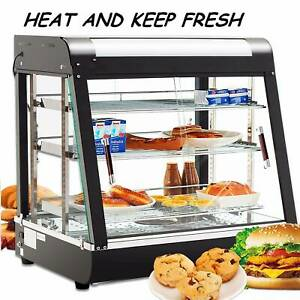 27 commercial Food Warmer Court Heat Pizza Display Warmer Cabinet 3 tier Glass