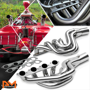 For Chevy Bbc Big Block 496 Mag Jet Boat Stainless Steel Racing Exhaust Header
